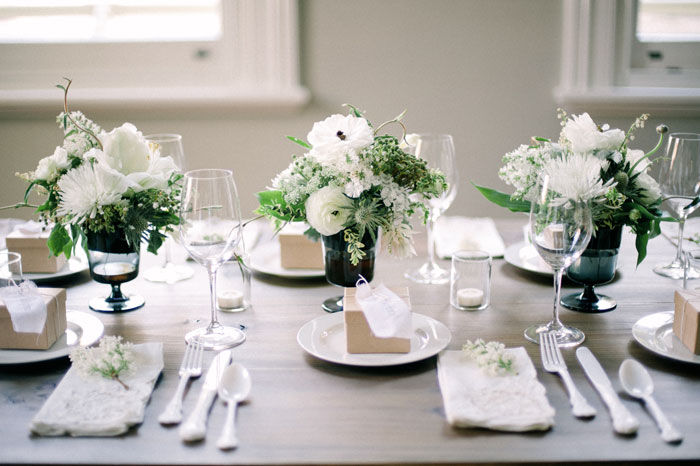 Genial White Table Decor